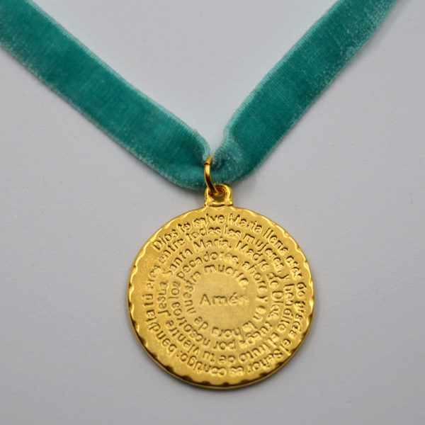 Medalla Ave María escrito