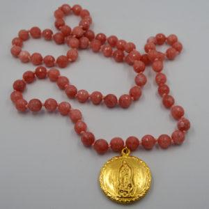 Collar ágatas Virgen Guadalupe